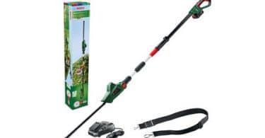 Test et avis sur le taille-haie électrique Bosch UniversalHedgePole 18